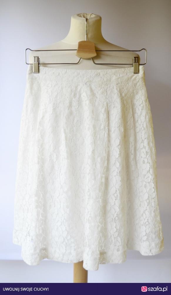 Biała rozkloszowana spódnica h&m rozm. m 38, s36 Radom
