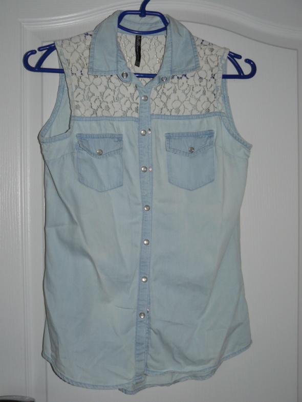 Kamizelki Jeansowa koszula bez rękawów XS