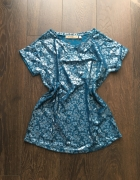 Bluzka unikat łuska koronkowa błyszcząca Zara H&M 36 S...