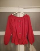 Bluzka Hiszpanka czerwona zdobiona NOWA...