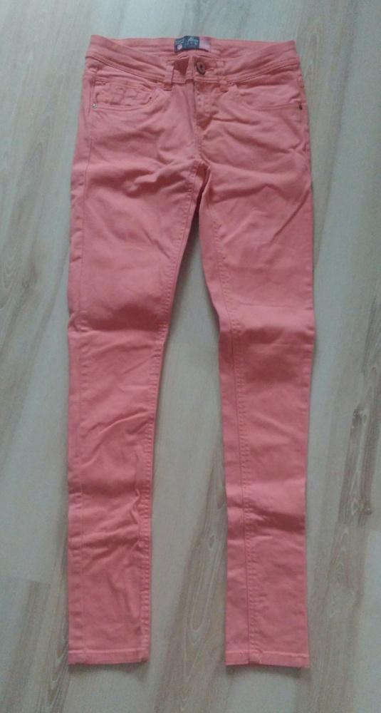 Spodnie rurki denim colour House koralowe XS okazja