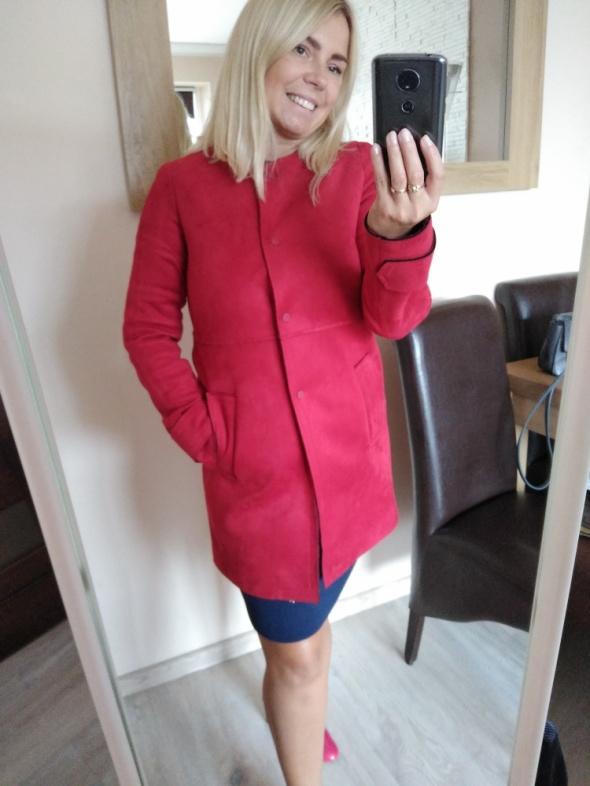 Zamszowy nowy płaszcz Zara