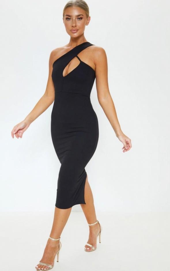 Sukienka czarna z wycięciami rozmiar S...