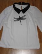 Biała koszula z printem