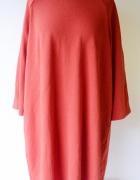 Sukienka Czerwona Oversize Redoute Luzna Elegancka 50 5XL...