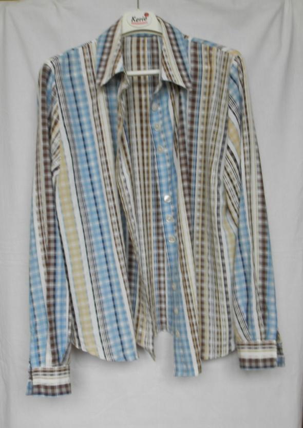 Koszula w pastelową kratę vintage oversize