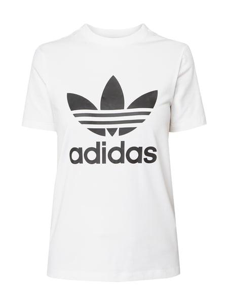 Ubrania Biały Tshirt Adidas