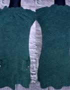 Sukienka włóczkowa butelkowa zieleń...