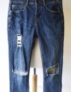 Spodnie Pull&Bear L 40 Dziury Jeansy Postrzępione Dzinsy...