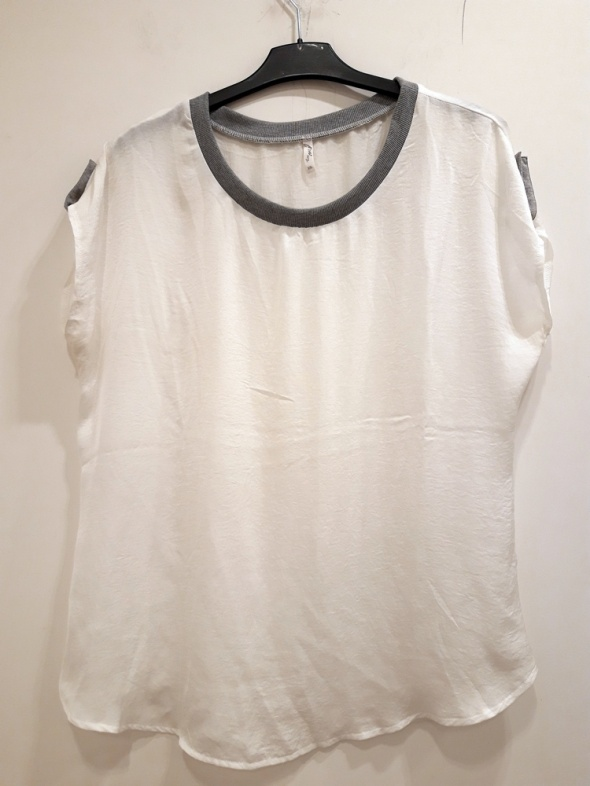 biała bluzka delikatna 46...