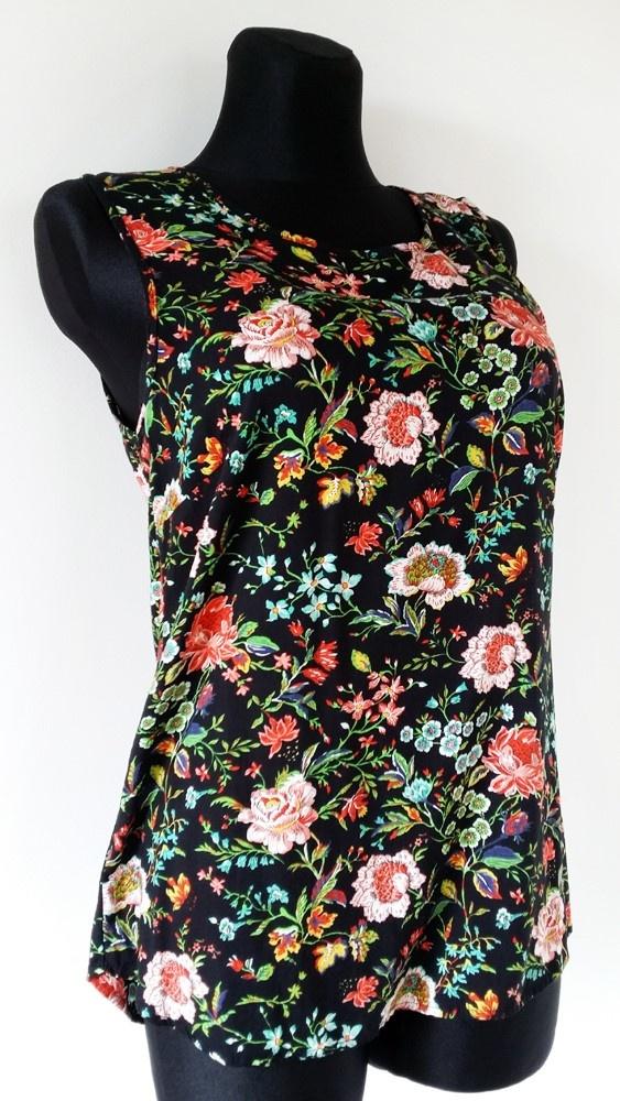 Letnia bluzka z motywem kwiatowym Peacocks r 42