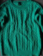 Zielony sweter firmy H&M rozmiar M...