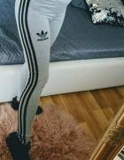 Legginsy rurki szare adidas bawełna...