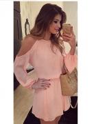 Sukienka z wyciętymi ramionami gumka w pasie rozmiar SM...