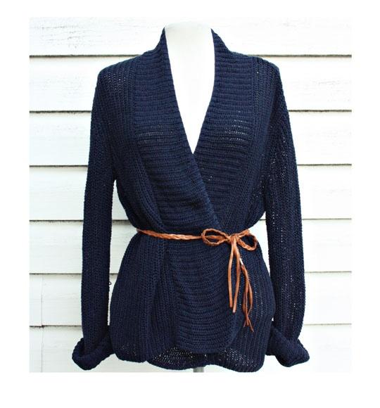Swetry Granatowy kardigan Esprit