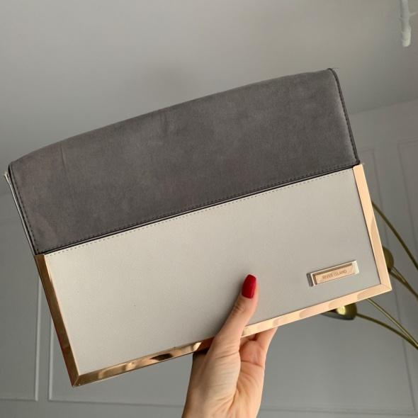 Torebki na co dzień Elegancka szara torebka kopertówka