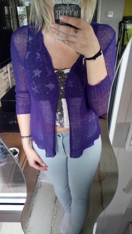 Niebieski sweterek siateczka