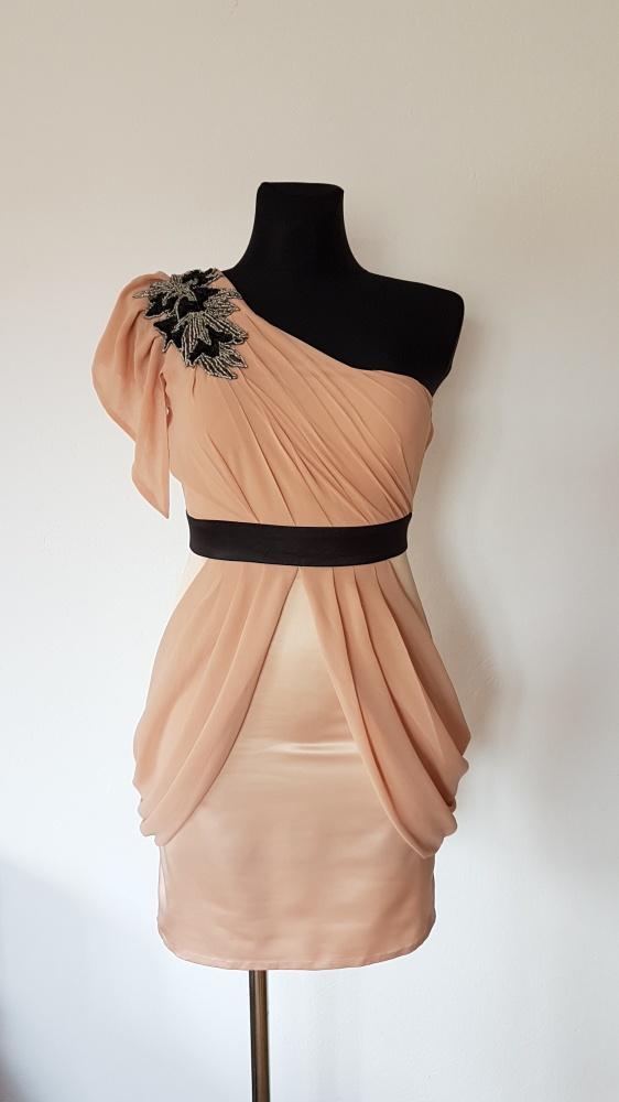 Suknie i sukienki LIPSY LONDON ASOS SUKIENKA NA JEDNO RAMIĘ ZAMEK