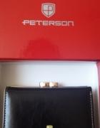 Nowy portfel damski Peterson czarny...