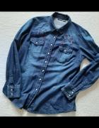 Jeansowa koszula z haftem...