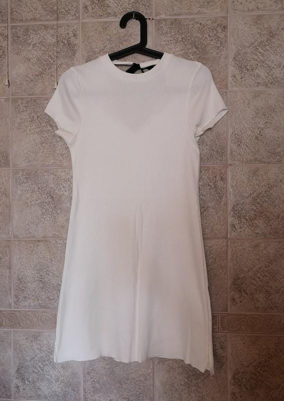 Biała sukienka w prążek River Island