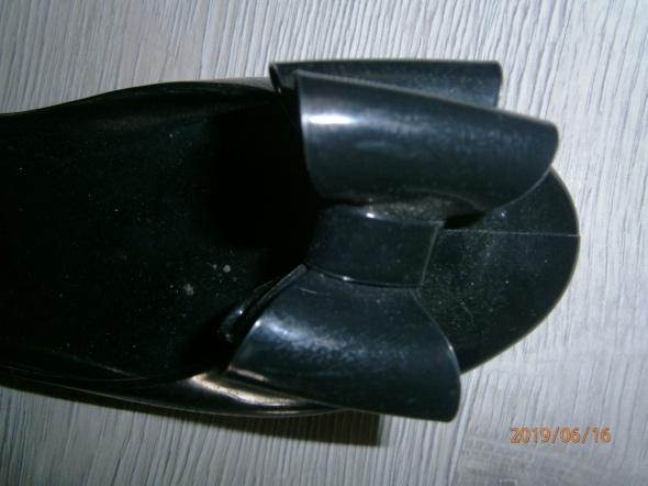 czarne balerinki z kokardą 36