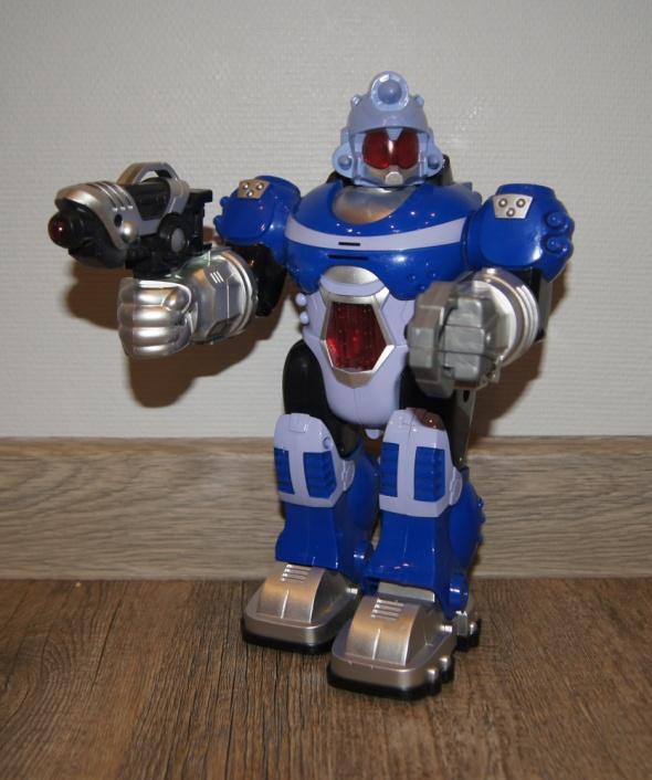 Zabawki Robot chodzi świeci wydaje dźwięki