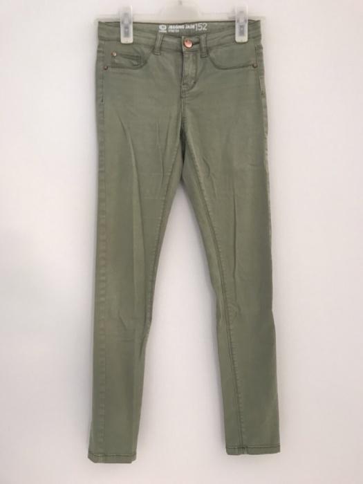 Spodnie jegginsy khaki Cubus 152cm XS 34