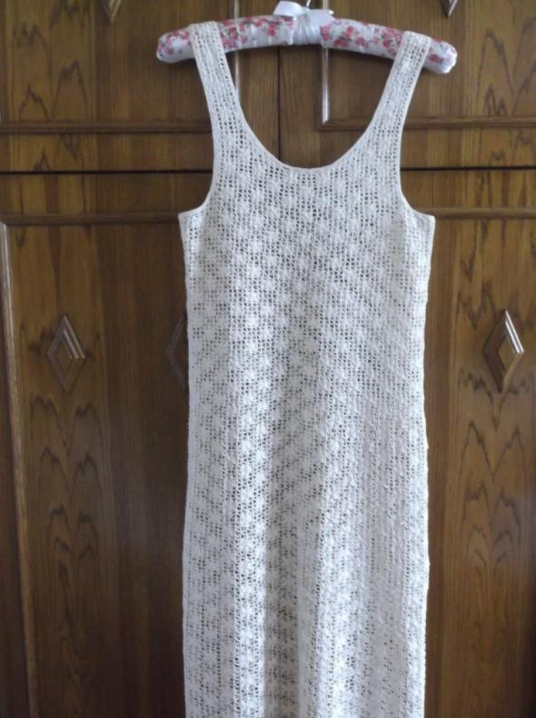Suknie i sukienki Ażurowa sukienka 36 38 rękodzieło