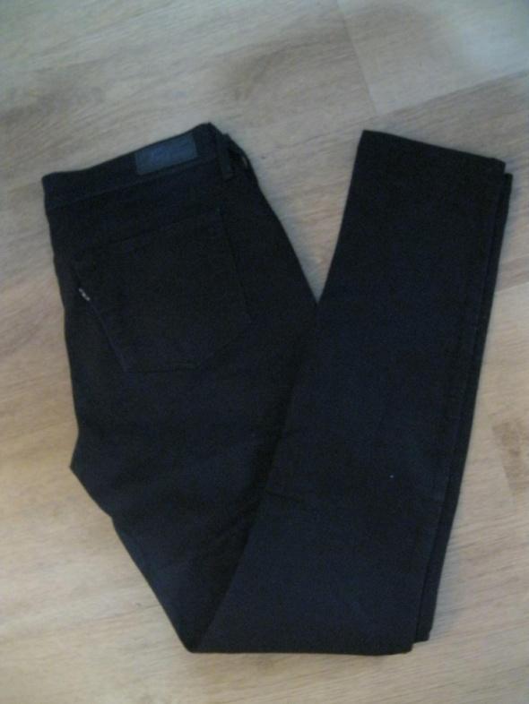 spodnie jeans rurki LEVIS 27 czarne L27 W30