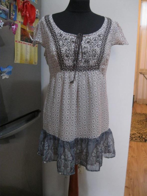 sukienka szyfonowa INDIGO 38 krótka