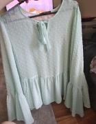 Miętowa bluzeczka z wiązaniem Primark roz 42...