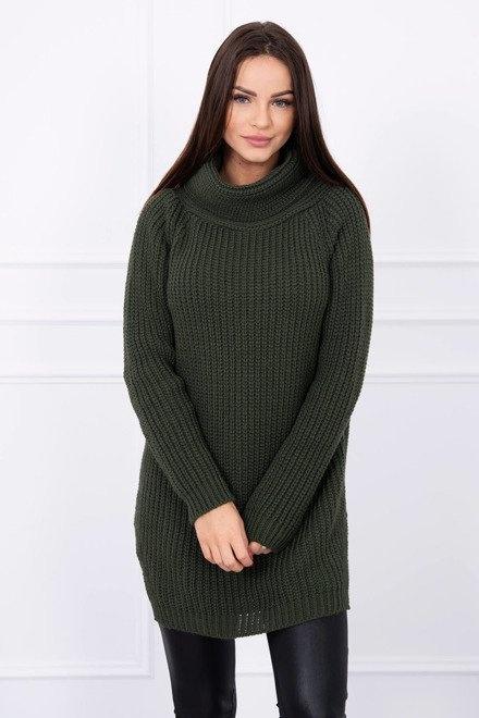 Długi sweter golf