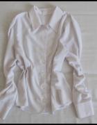Biała koszula damska kołnierzyk rozmiar 40 L stan bdb...
