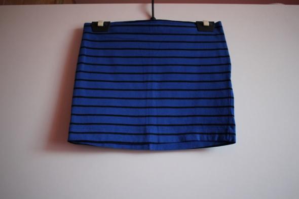 Spódnice H&M 34 XS 36 S spódniczka spódnica niebieska pasy