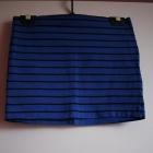 H&M 34 XS 36 S spódniczka spódnica niebieska pasy