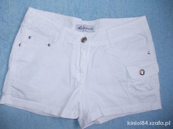 Spodenki Białe szorty krótkie spodenki xs 34 stan idealny