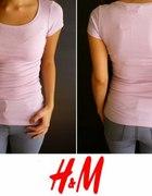 Jasnoróżowa koszulka na krótki rękaw xs 34 h&m...