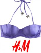 Fioletowa góra bikini h&M 75 A xs 34 s 36 strój...
