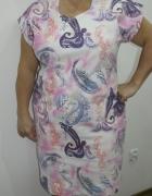 Sukienka letnia grubsza tkanina 50 52...