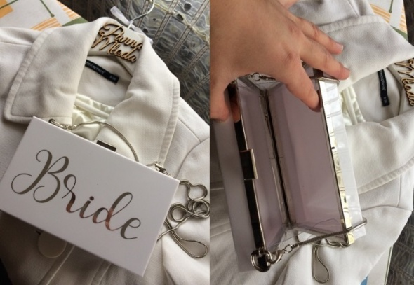 Ślubna torebka puzderko Bride piękna