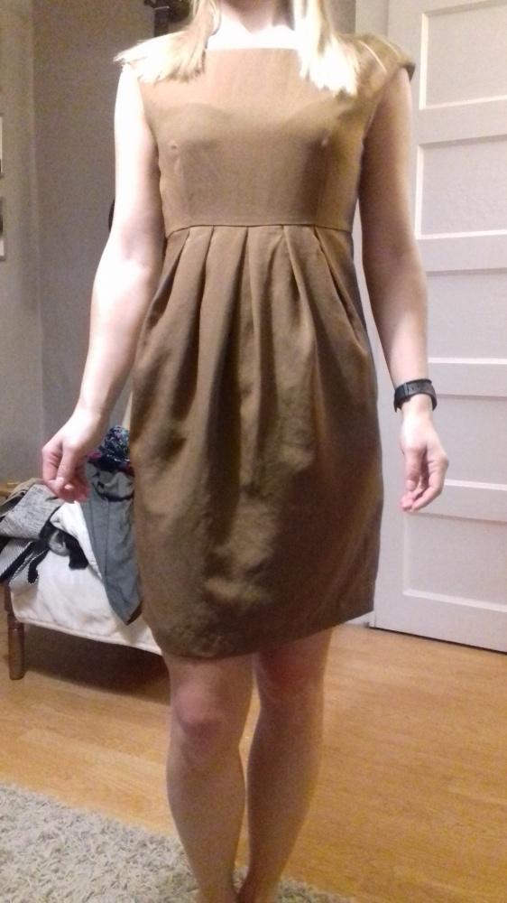 Suknie i sukienki Beżowa sukienka bombka h&m rozm 38 cena z wysylka