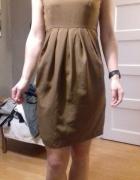 Beżowa sukienka bombka h&m rozm 38 cena z wysylka