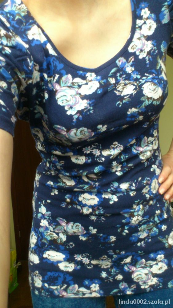 Sukienka tunika z bufkami floral Orsay