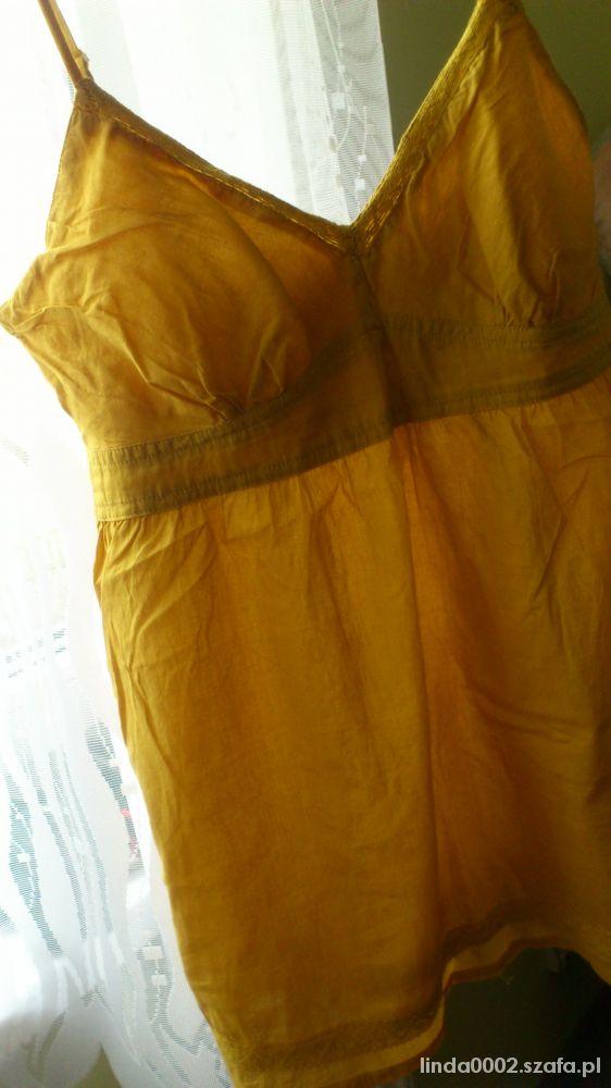 Żółta bluzeczka na ramiączkach