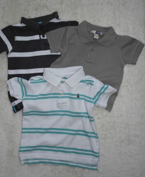 Koszulki polo trzy sztuki 80 98