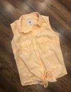 Brzoskwiniowa wiązana bluzka Reserved XS S morelowa...
