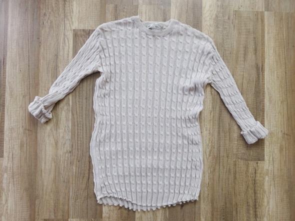 ZARA jasna kremowa pudrowa cienka bluzka 36 S