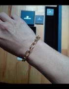 Złota bransoletka chain Swarovski charms...