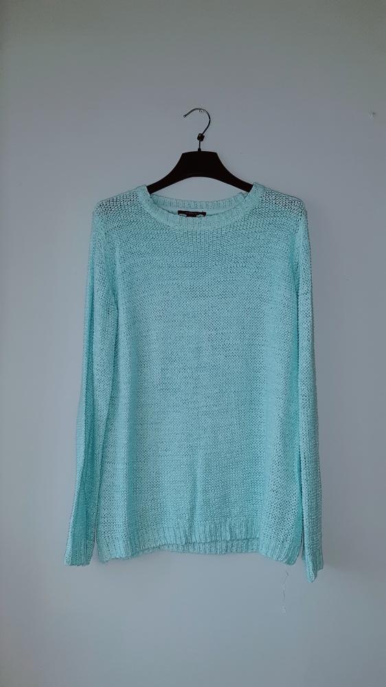 Idealny miętowy turkusowy sweter
